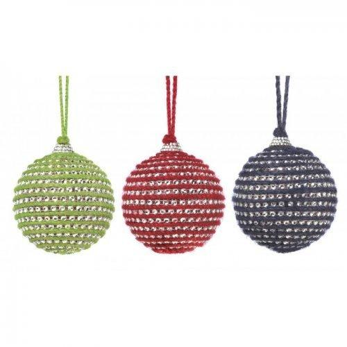 Holiday Jute Ball Ornament Trio (pack of 1 SET)