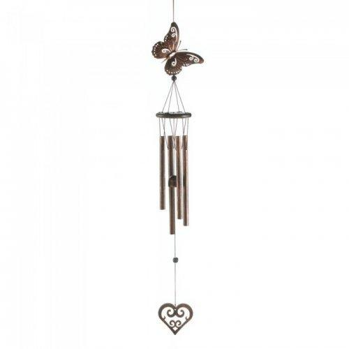 Butterfly And Heart Windchime (pack of 1 EA)
