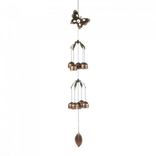 Butterfly Double Tier Bell Wind Chime (pack of 1 EA)