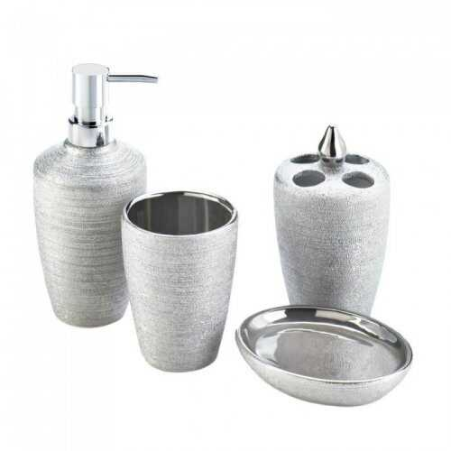 Silver Shimmer Bath Accessory Set (pack of 1 SET)