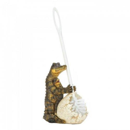 Crocodile Family Toilet Brush Holder (pack of 1 EA)