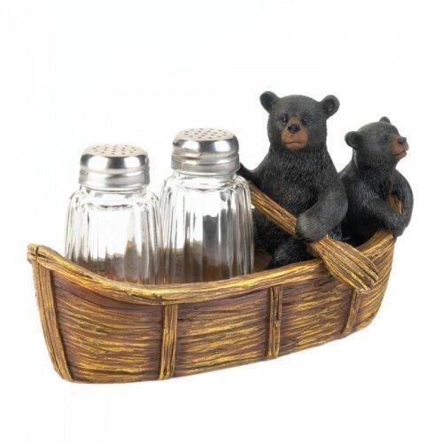 Black Bear Canoe Salt And Pepper Holder (pack of 1 EA)