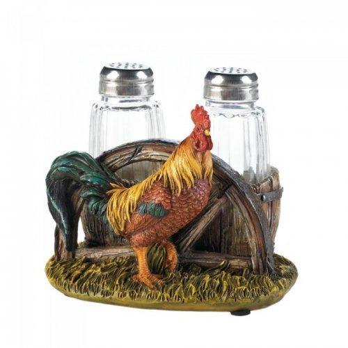 Country Farm Rooster Salt And Pepper Hol (pack of 1 SET)