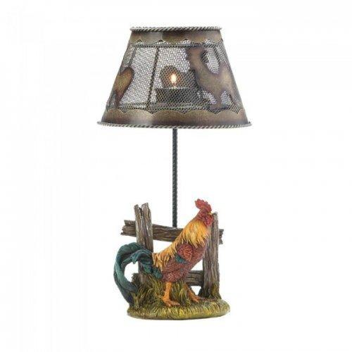 Country Rooster Candle Lamp (pack of 1 EA)