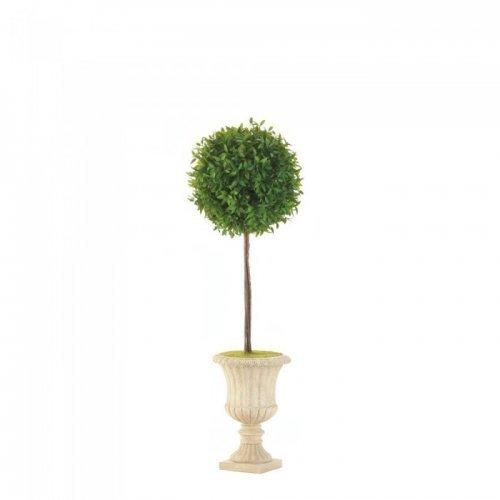 """24"""" Topiary In White Planter (pack of 1 EA)"""