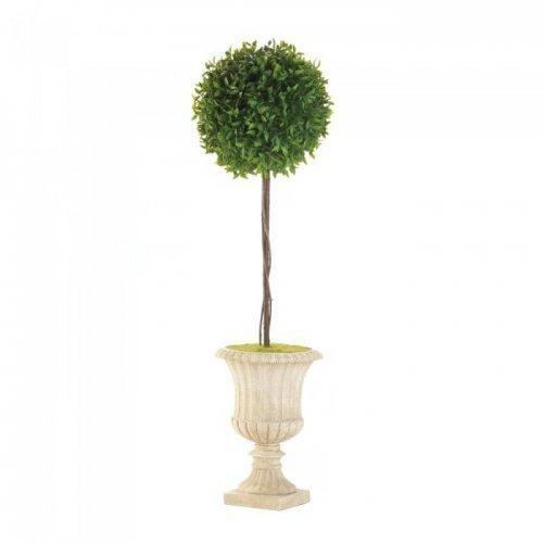 """29"""" Topiary In White Planter (pack of 1 EA)"""