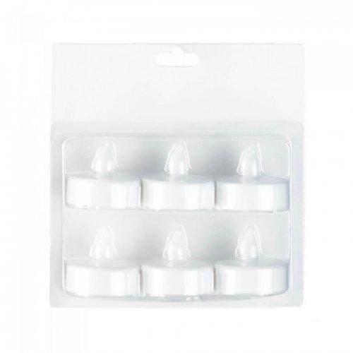 White Led Tealight 6 Pack (pack of 1 PK)