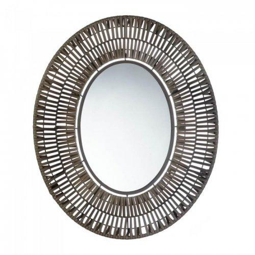Faux Rattan Oblong Wall Mirror (pack of 1 EA)