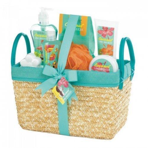 Coconut Lime Tropical Spa Basket Set (pack of 1 SET)