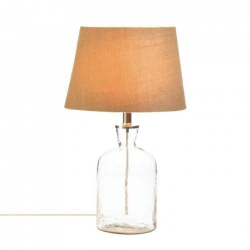 Clear Ripple Glass Bottle Table Lamp (pack of 1 EA)