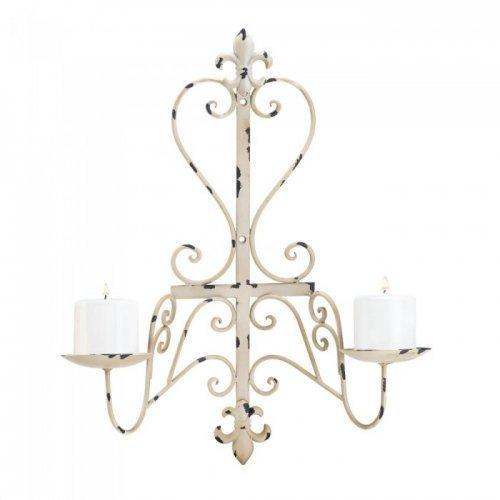 Antiqued Fleur De Lis Candle Sconce (pack of 1 EA)
