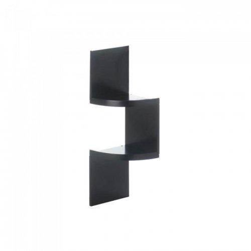 2-tier Black Corner Shelf (pack of 1 EA)