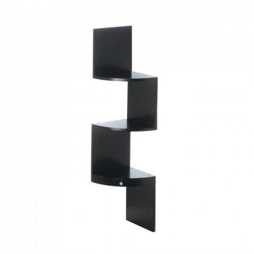 3-tier Black Corner Shelf With Drawer (pack of 1 EA)