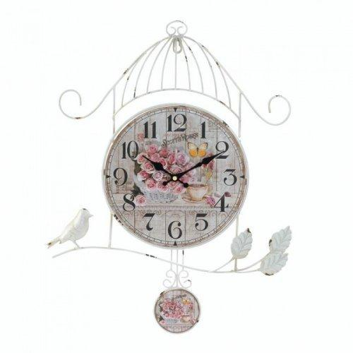 Birdcage Country Rose Wall Clock (pack of 1 EA)