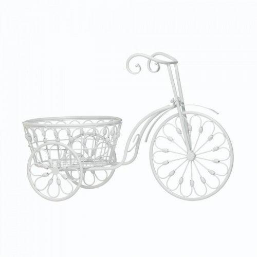 White Bicycle Planter