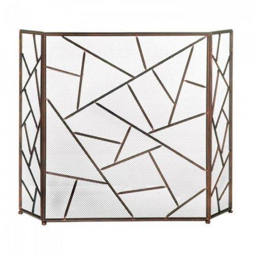 Modern Geometric Fireplace Screen (pack of 1 EA)