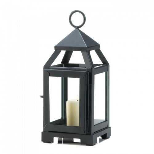 Black Mini Contemporary Lantern (pack of 1 EA)