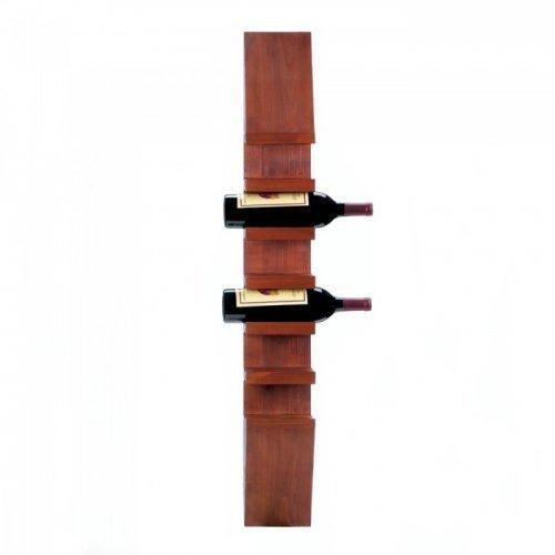 Sleek Wooden Wine Wall Rack (pack of 1 EA)