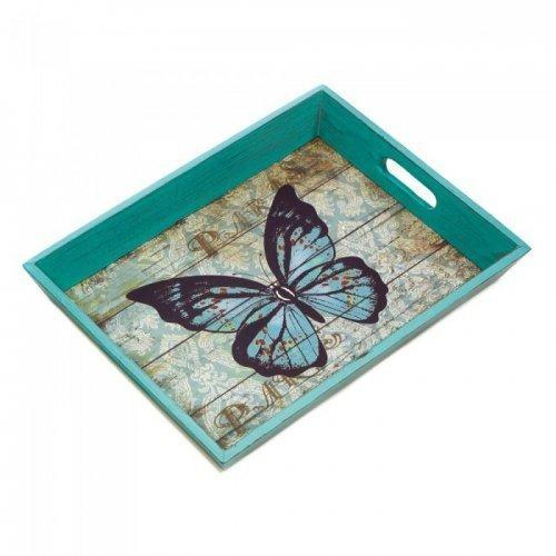 Blue Butterfly Serving Tray (pack of 1 EA)