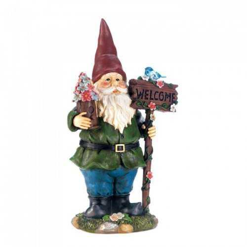 Solar Bluebird Gnome Welcome Statue (pack of 1 EA)
