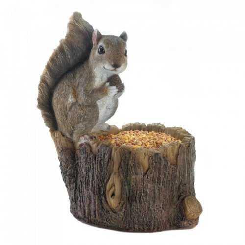 Squirrel Tree Trunk Bird Feeder
