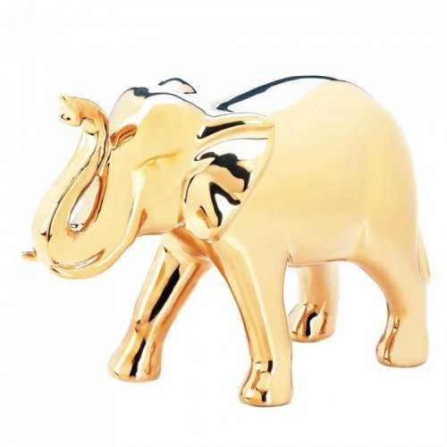 Large Golden Elephant Figure (pack of 1 EA)