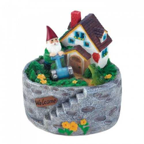 Storybook Home Gnome Solar Statue (pack of 1 EA)