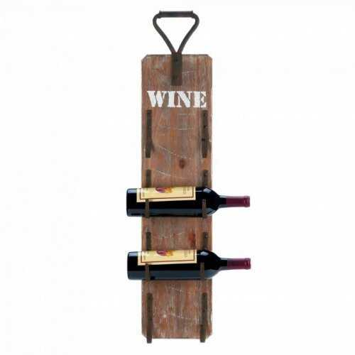 Wine Bottle Wall Rack With Metal Handle (pack of 1 EA)