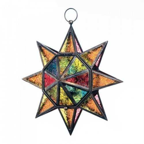 Multi Faceted Colorful Star Lantern (pack of 1 EA)