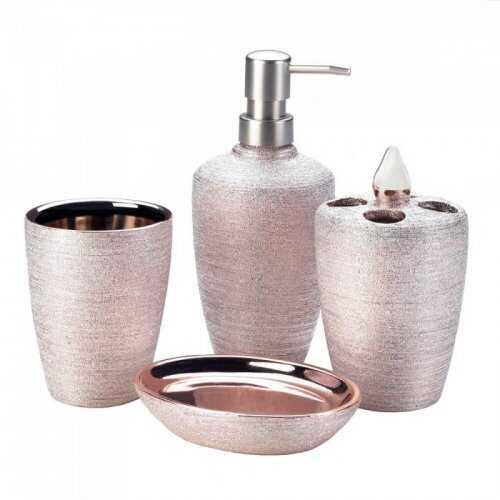 Rose Golden Shimmer Bath Set (pack of 1 SET)