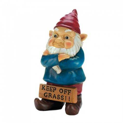 Keep Off Grass Grumpy Gnome (pack of 1 EA)