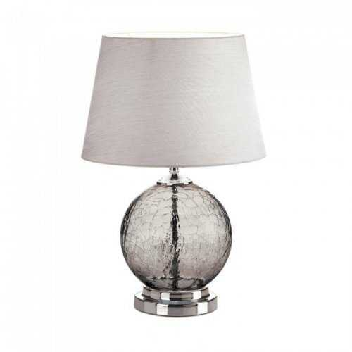 Grey Cracked Glass Table Lamp (pack of 1 EA)