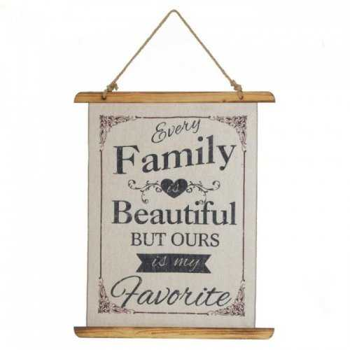 Beautiful Family Linen Wall Art (pack of 1 EA)