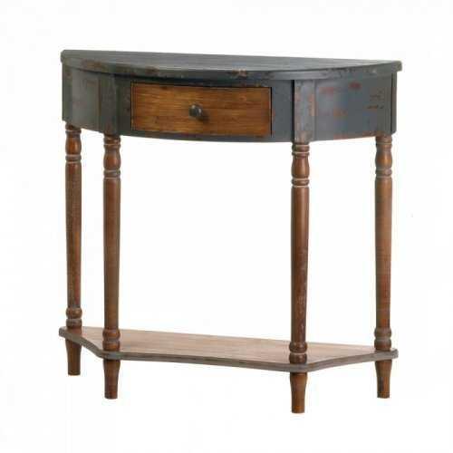 Wood Half-moon Hall Table (pack of 1 EA)