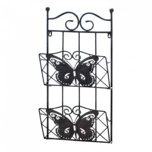Butterfly 2-tier Magazine Wall Rack (pack of 1 EA)