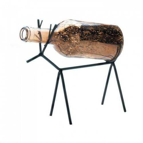 Glass Bottle Reindeer Lantern (pack of 1 EA)