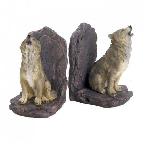 Howling Wolf Bookends (pack of 1 SET)
