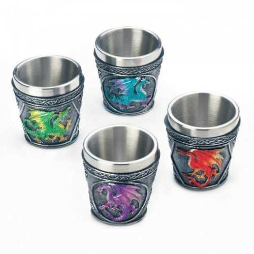 Mythical Dragons Shot Glass Set Of 4