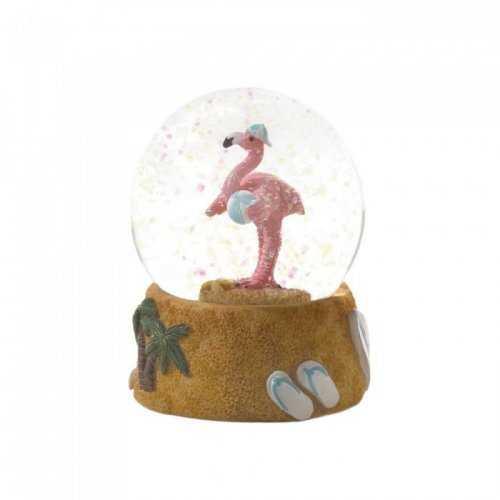 Beach Ball Flamingo Snow Globe (pack of 1 EA)