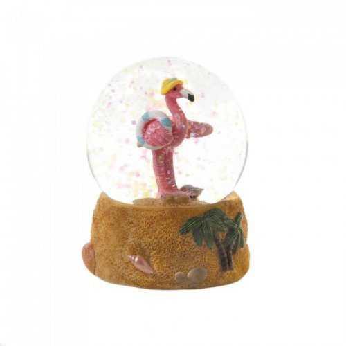 Sun Hat Flamingo Snow Globe (pack of 1 EA)