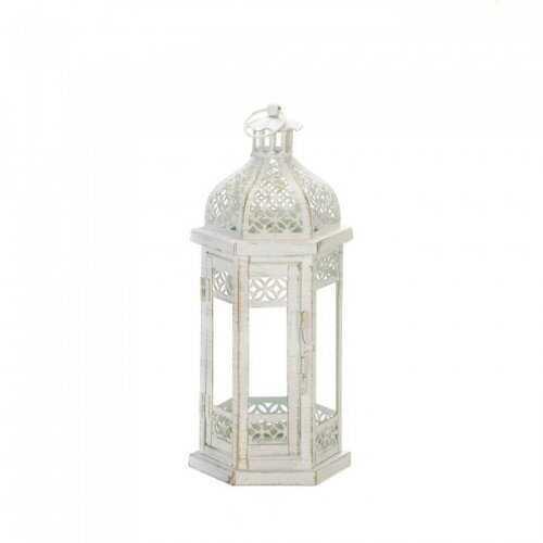 Antique-style Floral Lantern (pack of 1 EA)
