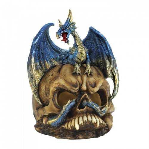 Blue Dragon And Skull Statue