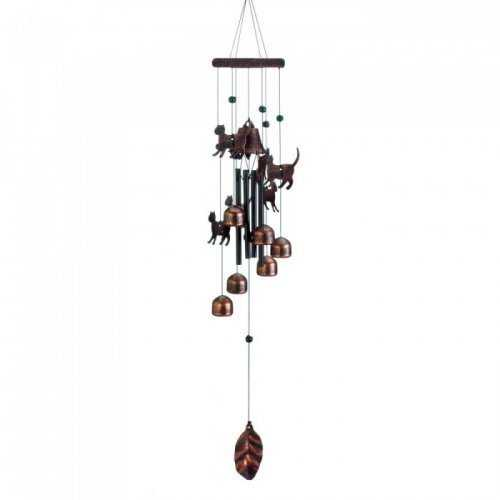 "26"" Bronze Cats Wind Chimes (pack of 1 EA)"