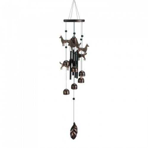 "26"" Bronze Dogs Wind Chimes (pack of 1 EA)"