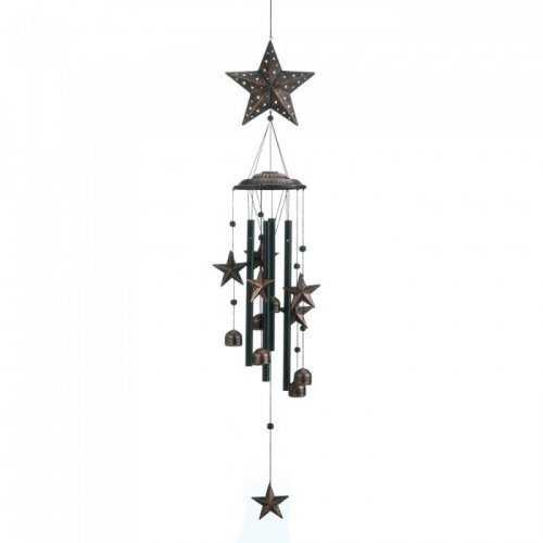 "26"" Bronze Stars Wind Chimes (pack of 1 EA)"
