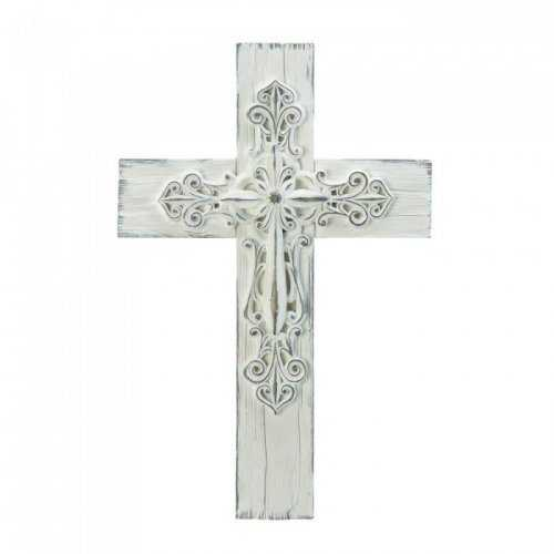 3-d Whitewashed Cross (pack of 1 EA)