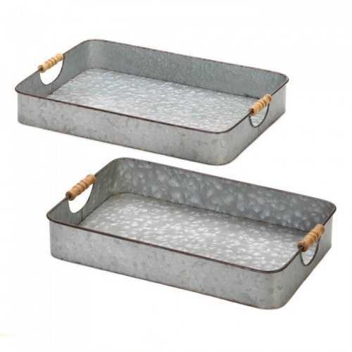Galvanized Serving Trays (pack of 1 SET)