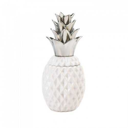 "12"" Silver Topped Pineapple Jar (pack of 1 SET)"
