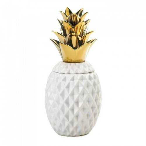 "13"" Gold Topped Pineapple Jar (pack of 1 SET)"