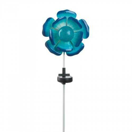 Blue Flower Solar Stake